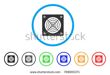 Asic Miner Hardware rounded icon. Style is a flat gray symbol inside light  blue circle - Asics 06 Vector PNG