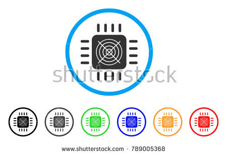 Asic Processor rounded icon. Style is a flat grey symbol inside light blue  circle with - Asics 06 Vector PNG