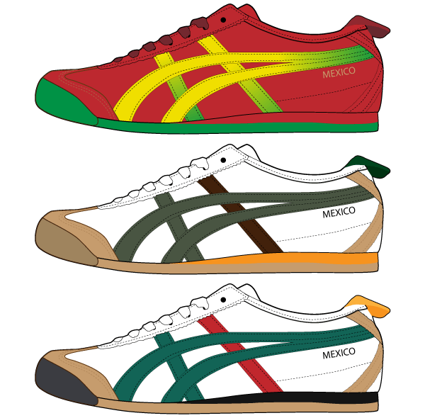 Asics Shoes Free Vector free download - Asics 06 Vector PNG