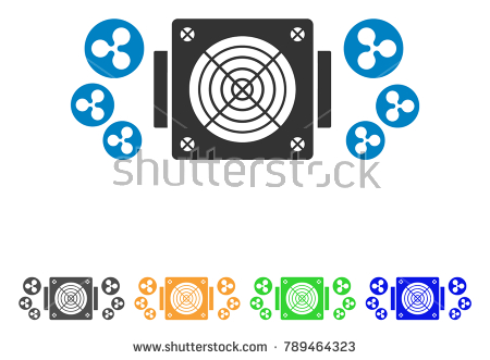 Ripple Mining Asic Device icon. Vector illustration style is a flat iconic  ripple mining asic - Asics 06 Vector PNG