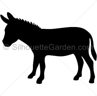 Donkey Silhouette - Asino PNG