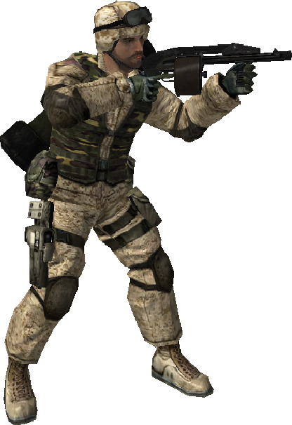 BF2 DAO12 Soldier.png - Asker PNG