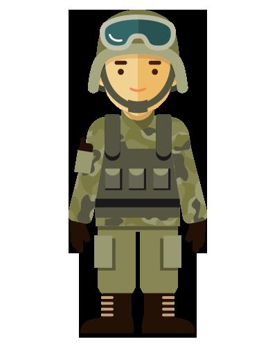 Clipart erkek asker - Asker PNG