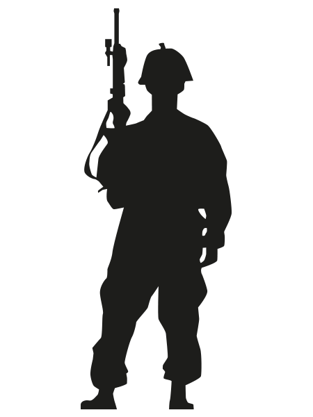 Silahıyla asker silüeti - Asker PNG