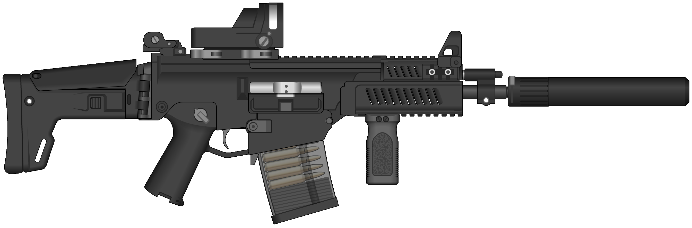Assault Rifle HD PNG