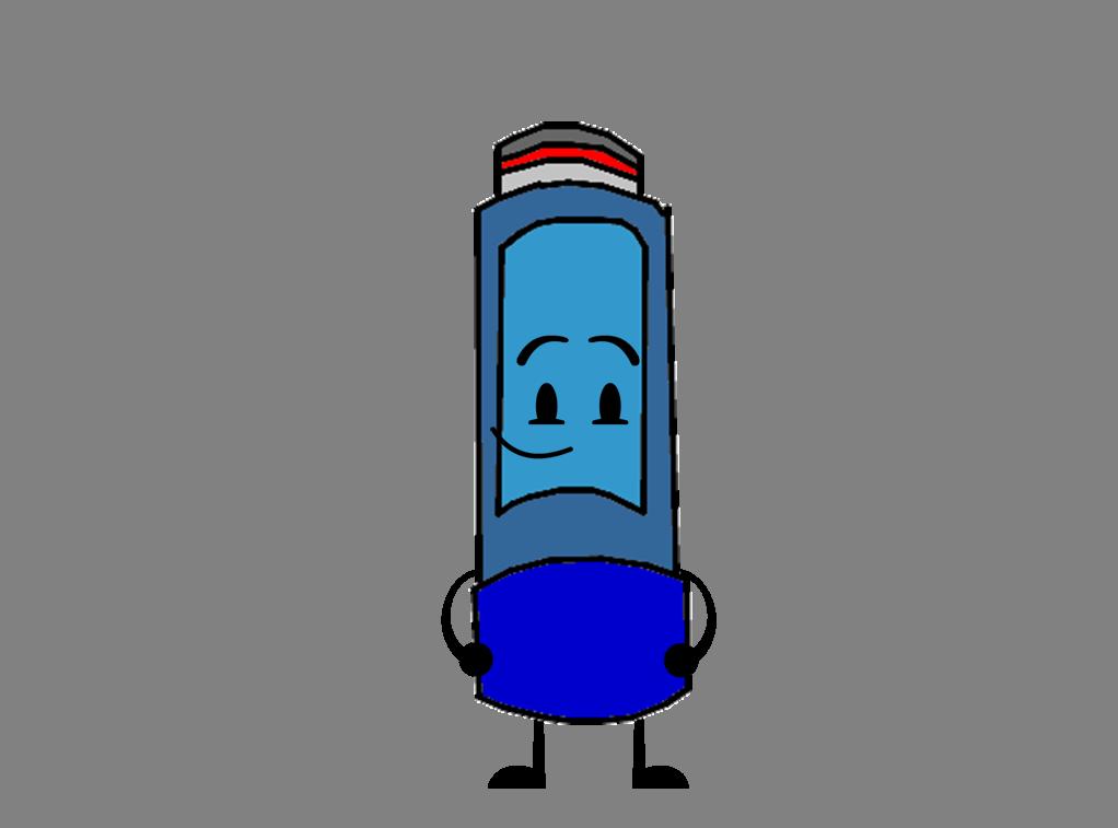 Asthma inhaler new front.png - Asthma Inhaler PNG