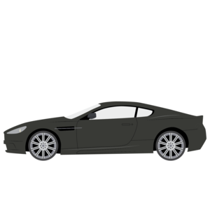 Aston Martin DBS V12 · Cartoon car front view Png clipart
