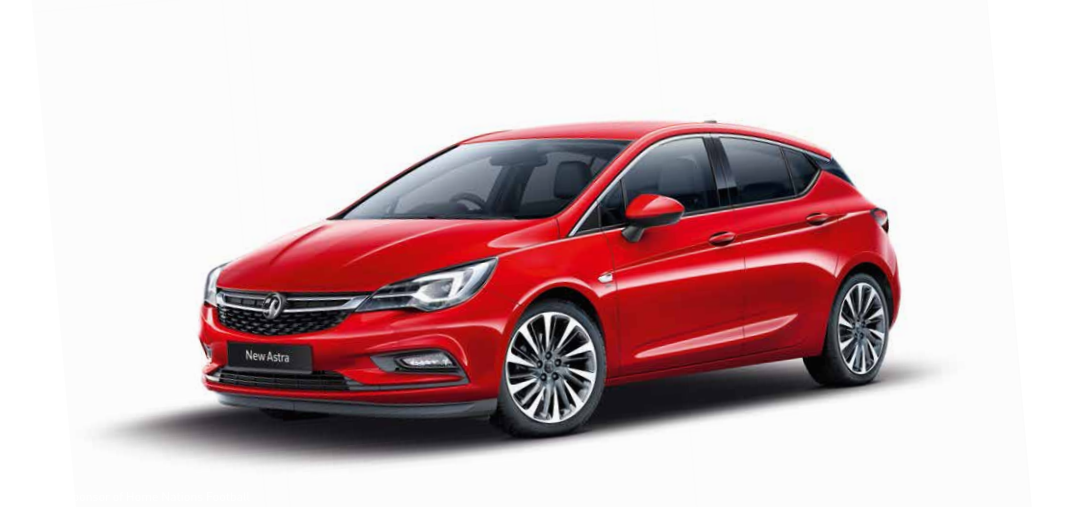 Image of new Vauxhall Astra on white background - Astra PNG