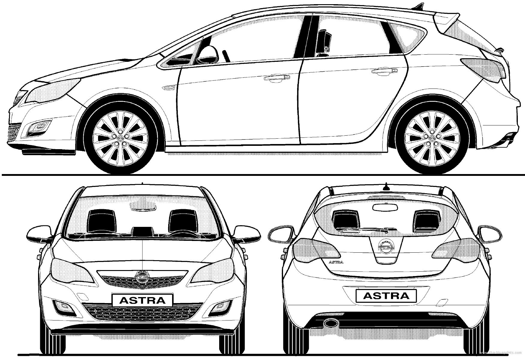 Opel Astra 5-Door (2012) - Astra Vector PNG