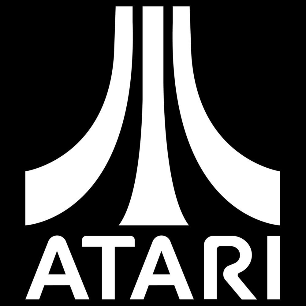 Atari Logo Vinyl Decal Sticker gaming pacman invader asteroid pong 029 - Atari Games Black Logo Vector PNG