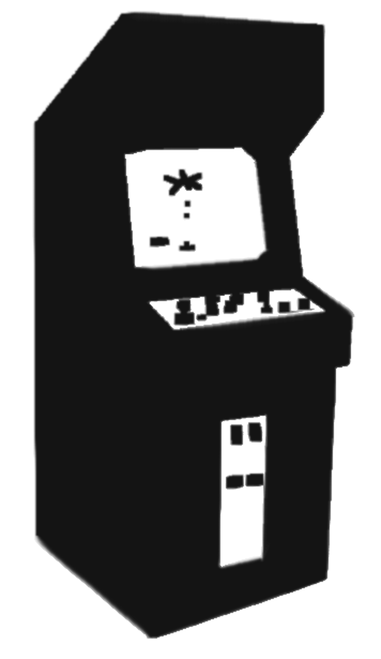 Arcade - Atari Games Black Vector PNG