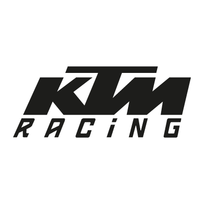 KTM Racing black vector logo . - Atiker Logo Vector PNG