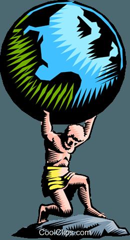Atlas Royalty Free Vector Clip Art illustration - Atlas Vector PNG