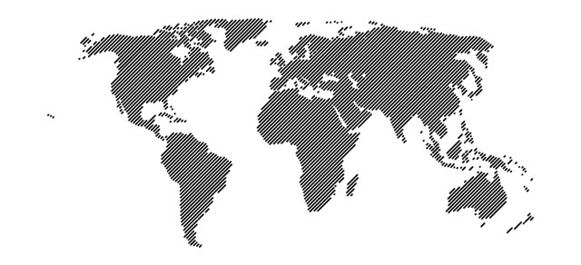 World Map 45 Lines Vector template eps - Atlas Vector PNG