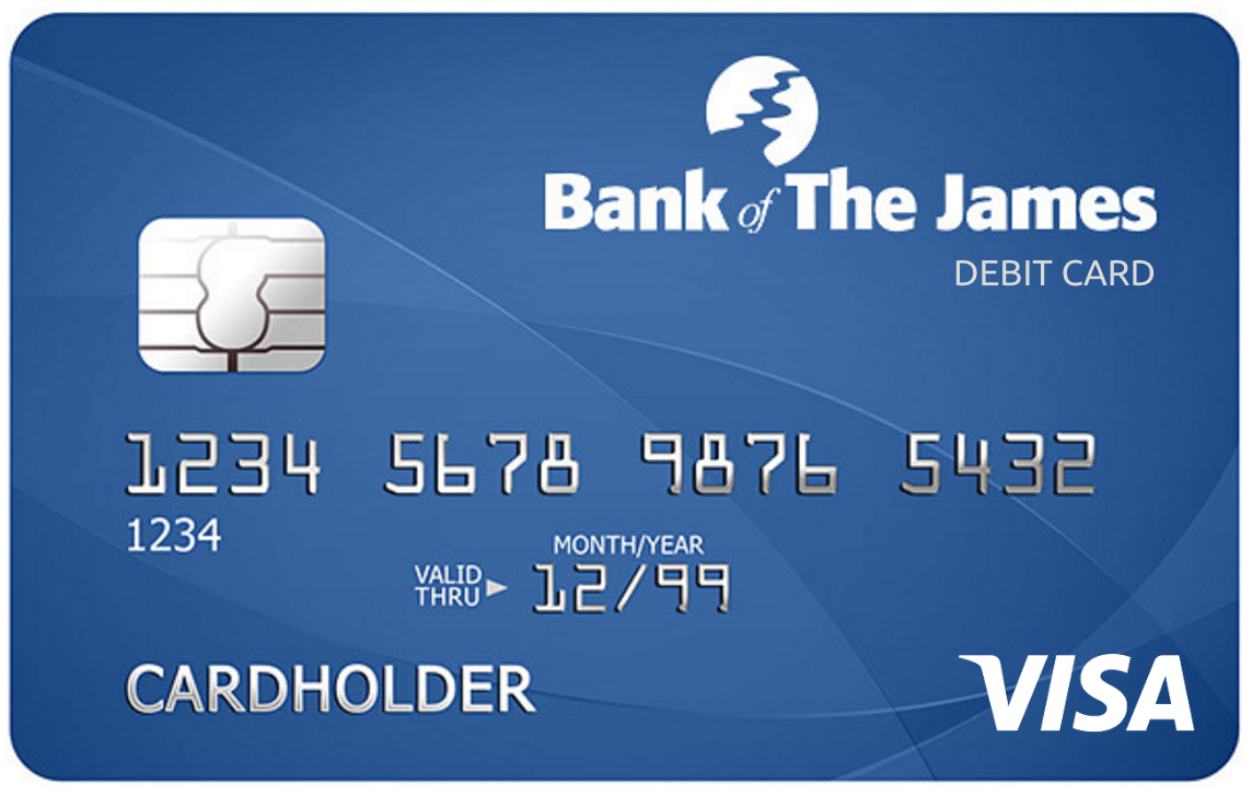 Bank Of The James VISA Debit Card With CardValet - Atm Card PNG