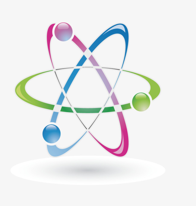 vector color star chart atoms, Hd, Vector, Hexagonal PNG and Vector - Atoms PNG