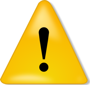 Warning Sign Clip Art - Attention Sign PNG