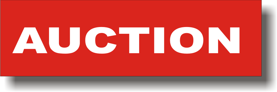 Auction Sign PNG