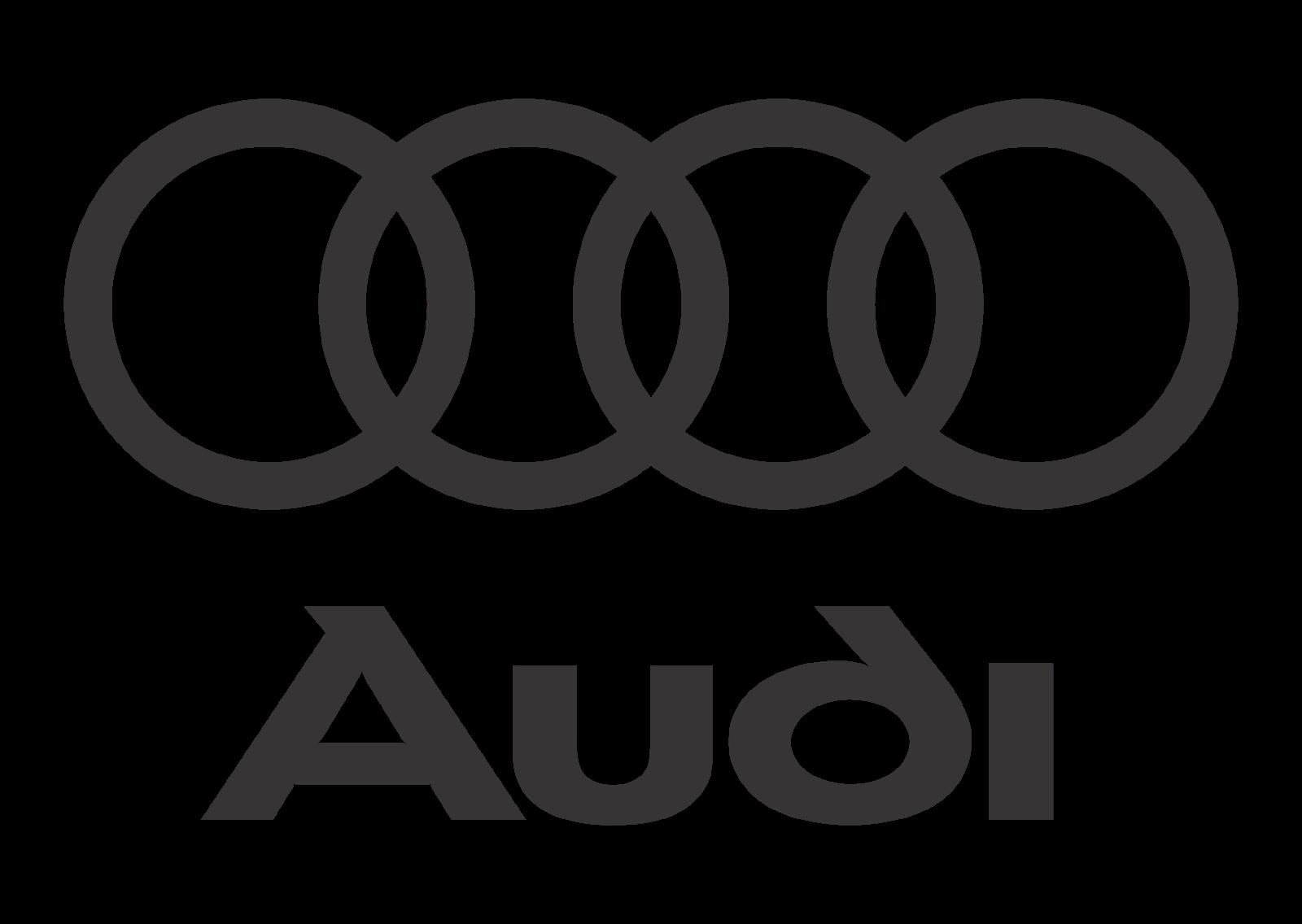 Audi Logo Vector (Black White) - Audi Logo PNG