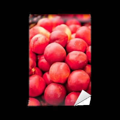 frische gesunde pfirsiche aprikosen auf dem markt Wall Mural u2022 Pixers® u2022 We  live to change - Auf Dem Markt PNG