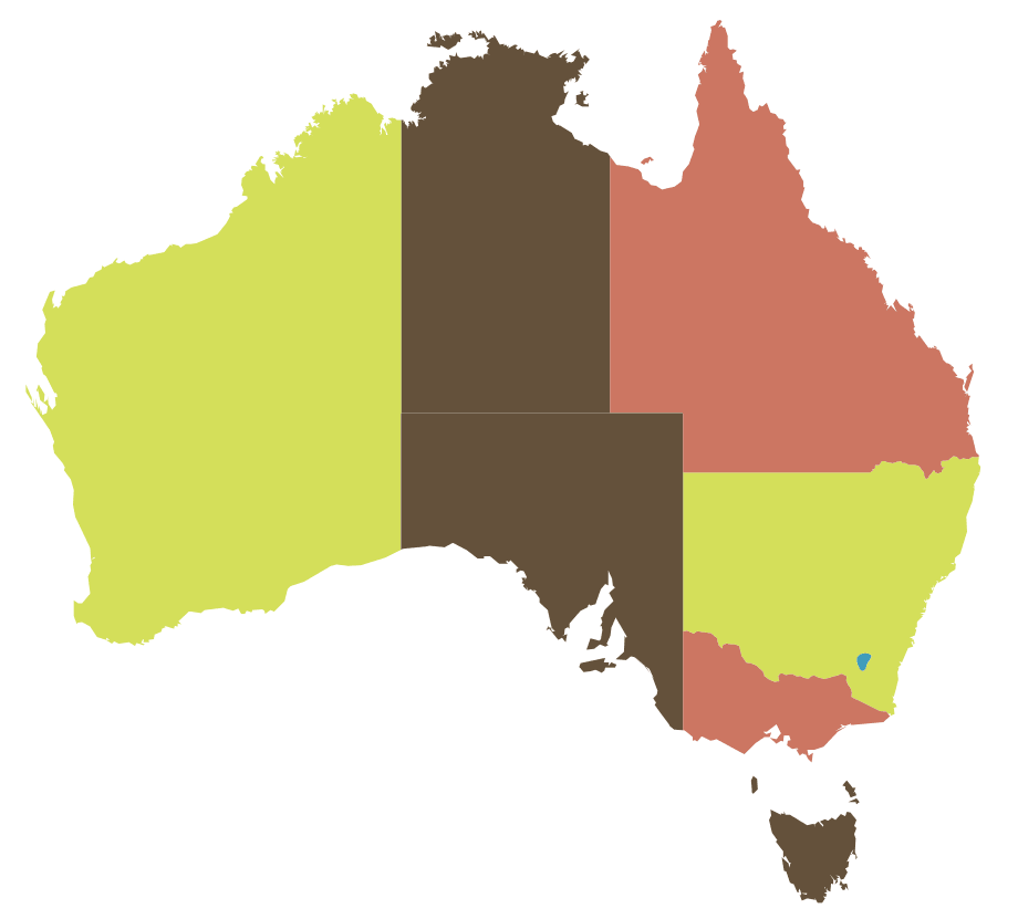 Click on the Map of Australia, Abortion Laws PlusPng.com  - Australia PNG
