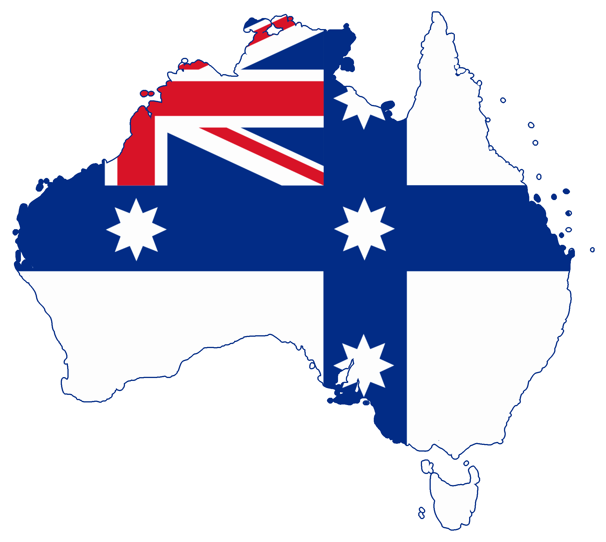 File:Flag map of Australia (Australian Federation).png - Australia PNG