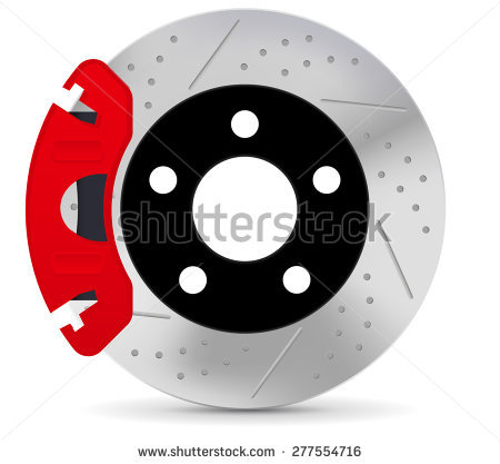 Brake disc. Vector illustration isolated on white background - Auto Brake Service Vector PNG