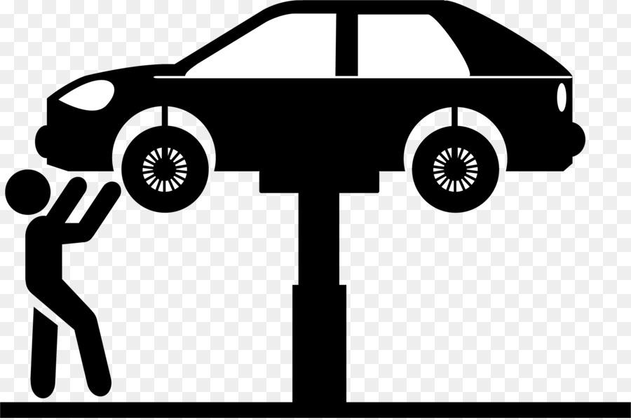 Car Automobile repair shop Auto mechanic Maintenance Clip art - car tire - Auto Mechanic PNG Black And White