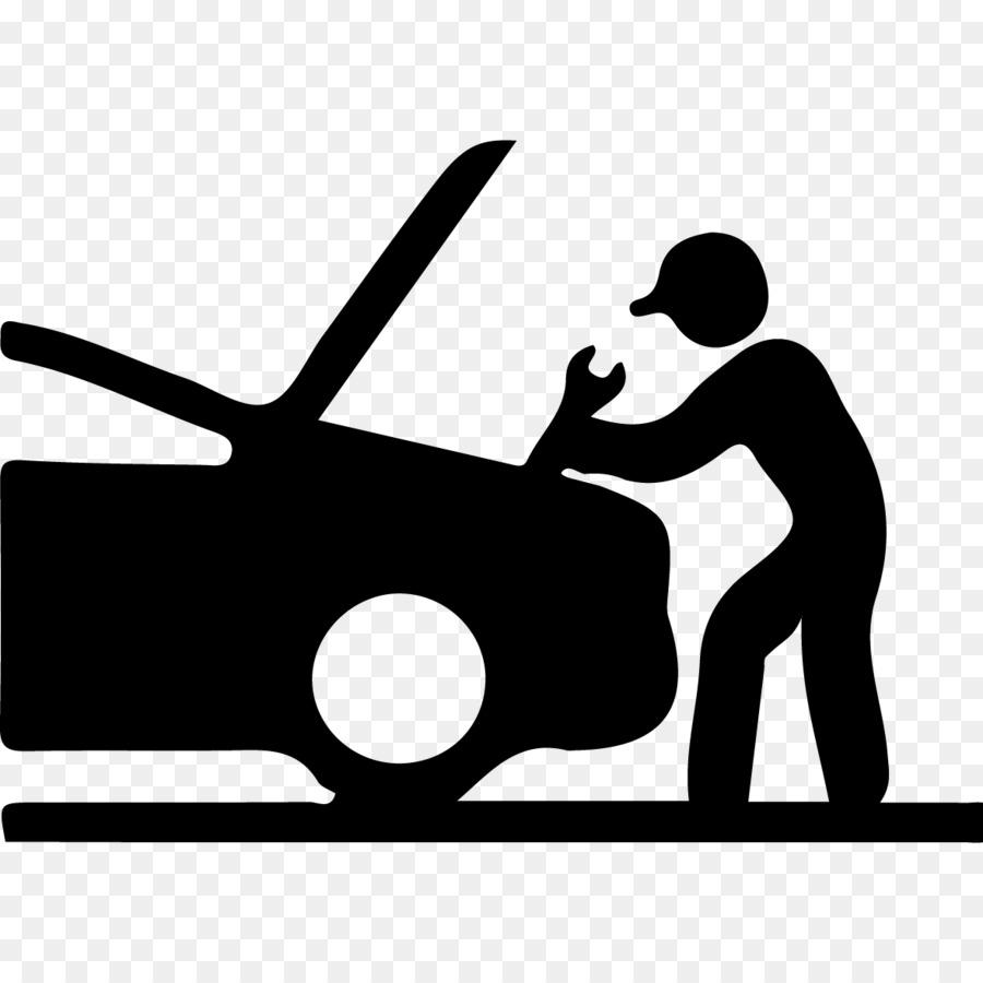 Car Automobile repair shop Maintenance Auto mechanic - 24 HOURS - Auto Mechanic PNG Black And White