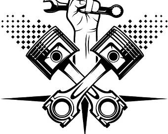 Racing Logo #4 Racecar Equipment Auto Mechanic Repair Shop Part Car Truck  Nascar Indy Race - Auto Mechanic PNG Black And White