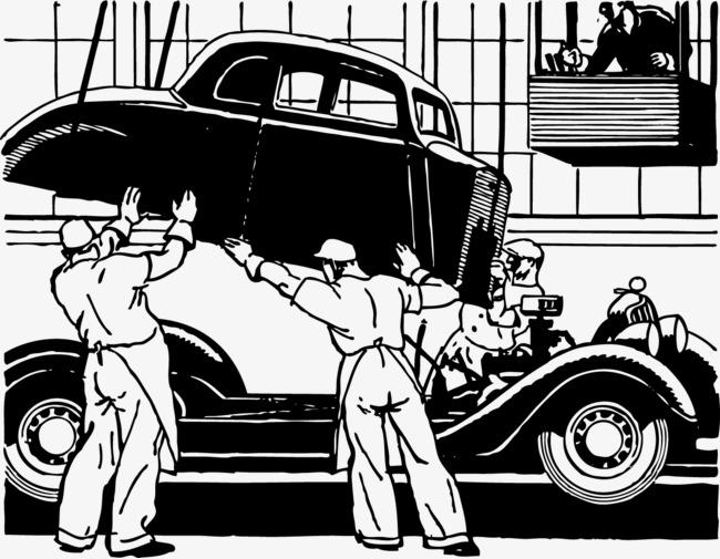 Vector auto repair, Auto Mechanic, Vector Free Download, Repairman PNG and  Vector - Auto Mechanic PNG Black And White