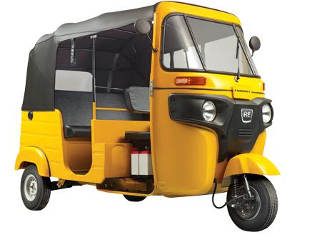 Bajaj RE Auto Rickshaw Compact Three Wheeler Key Features - Auto Rickshaw PNG