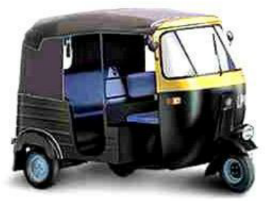 Figure 1: Bajaj RE 2S auto rickshaw - Auto Rickshaw PNG