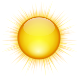 Status-weather-clear-icon - Autumn Sun PNG