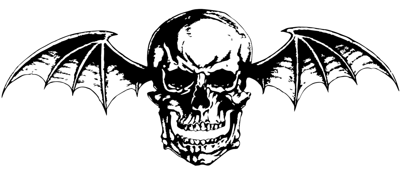 Avenged Sevenfold ~ Deathbat (Vector/PNG) B/W Logo by LightsInAugust - Avenged Sevenfold PNG