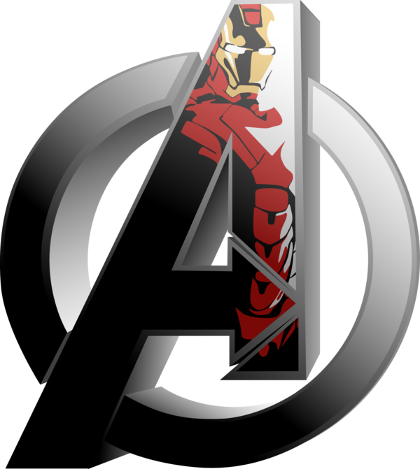 The Avengers - Iron Man by Mad42Sam PlusPng.com  - Avengers Logo Vector PNG