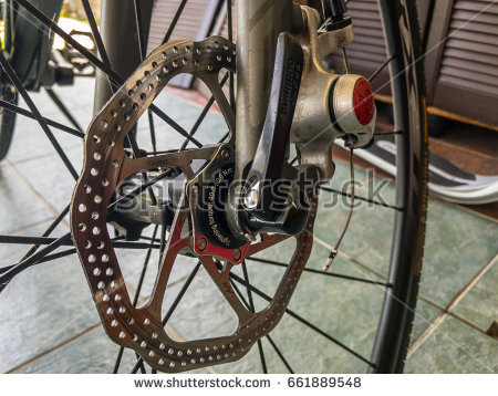 June 2017 - Avid BB 5 Disc Brake rotor mounted on a bicycle, with Shimano - Avid Bicycles Vector PNG