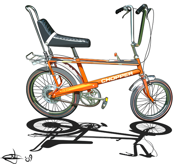 Raleigh Chopper by Jase-nye2212.deviantart pluspng.com on @deviantART - Avid Bicycles Vector PNG