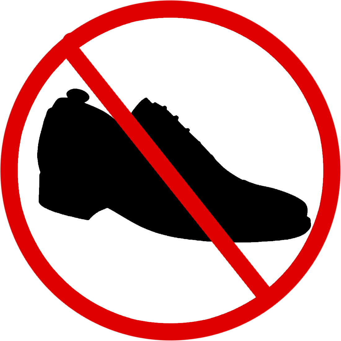 shoes allowed clipart - Shoes Off PNG - Avtocompany PNG