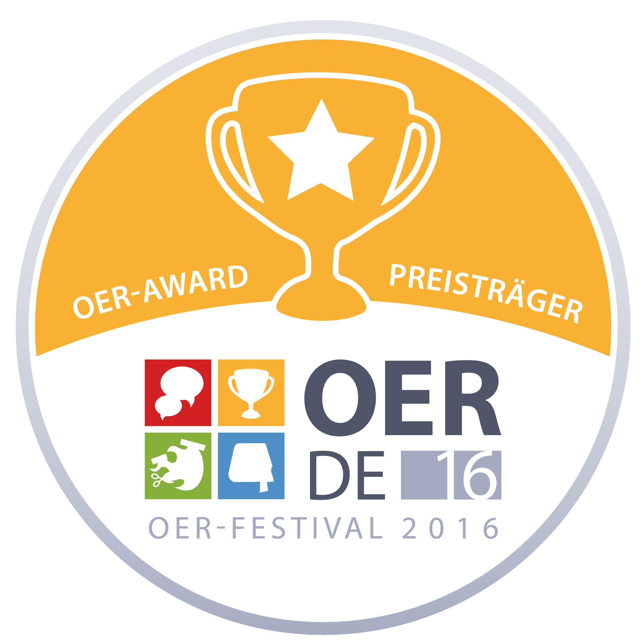 File:OER Festival 2016 - Badge - OER-Award.png - Award PNG