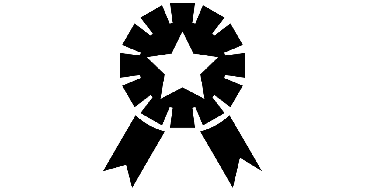 Award Ribbon PNG Black And White-PlusPNG.com-1200 - Award Ribbon PNG Black And White