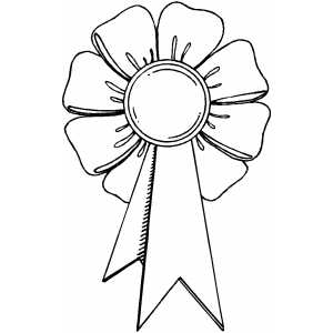 Award ribbon printable: Printable #150151 Ribbon - Award Ribbon PNG Black And White