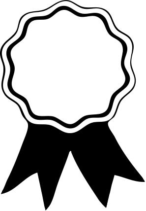 Free Award Ribbon Clipart · Award Ribbon Clipart Black And White - Award Ribbon PNG Black And White