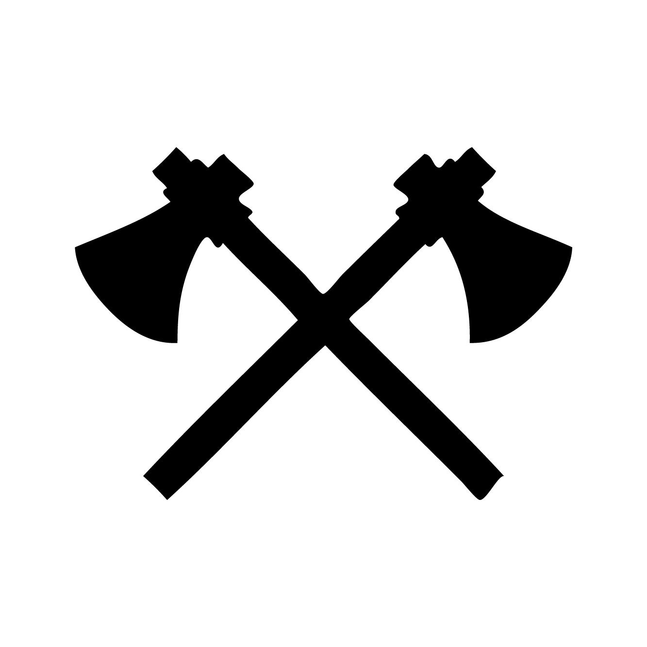 Axe Tattoo | Habitatt Supply Co | Finest Quality Designed Temporary Tattoos - Axe Black Logo PNG
