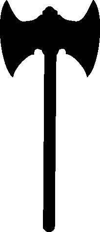 Double axe shape 3 (vector and clipart) by Encelado PlusPng.com  - Axe Black Logo PNG