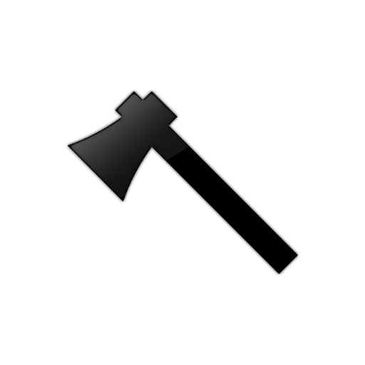 Simple Shaped Ax (Axe) Icon #080896 - Axe Black Logo PNG
