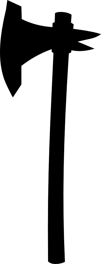 One handed axe shape 8 - Axe Black Logo Vector PNG