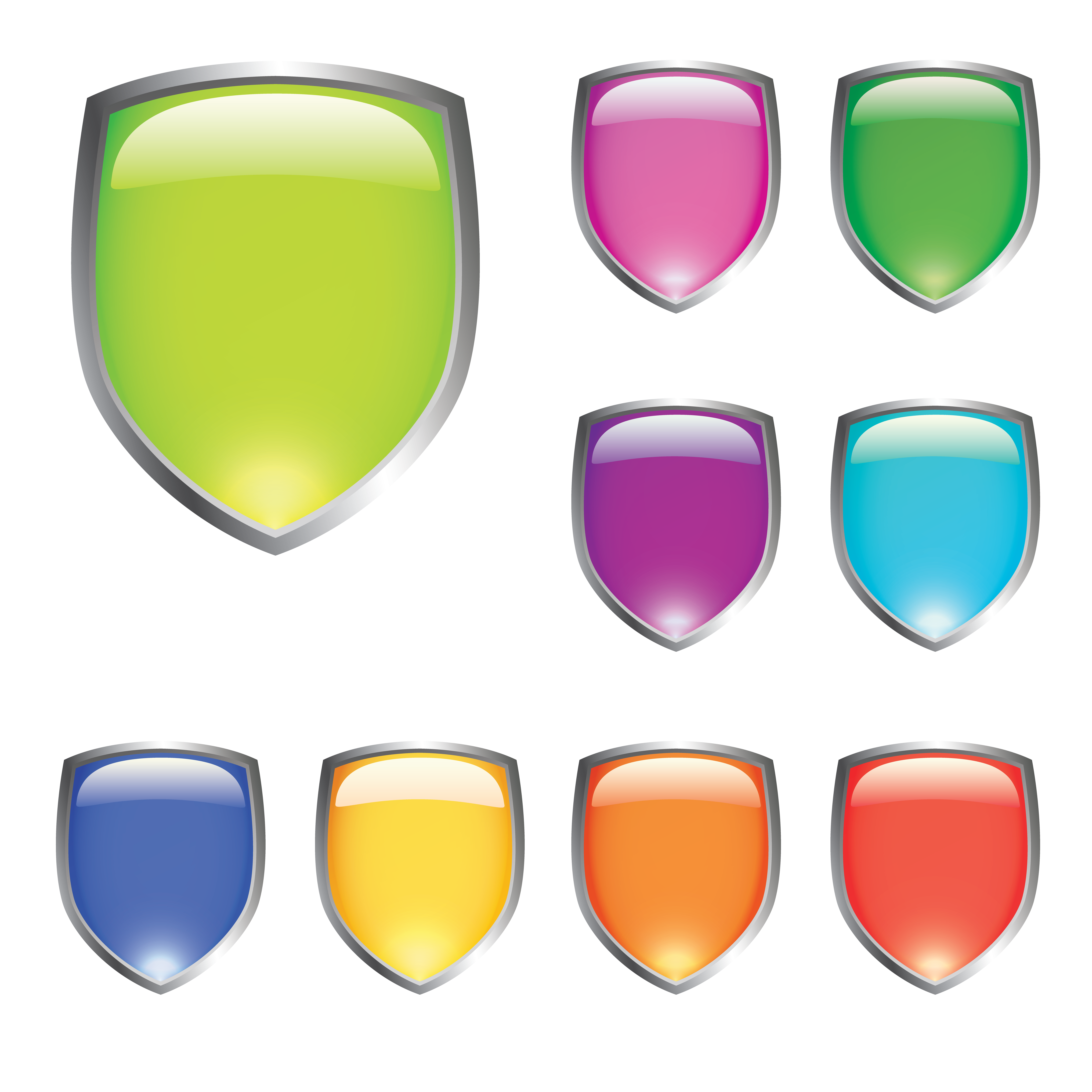 . PlusPng.com free vector Glossy Shields - Aygaz Vector PNG