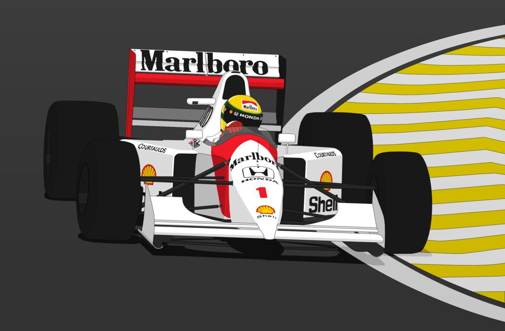 McLaren MP4/7A - Ayrton Senna by Caboose6789 PlusPng.com  - Ayrton Senna S PNG