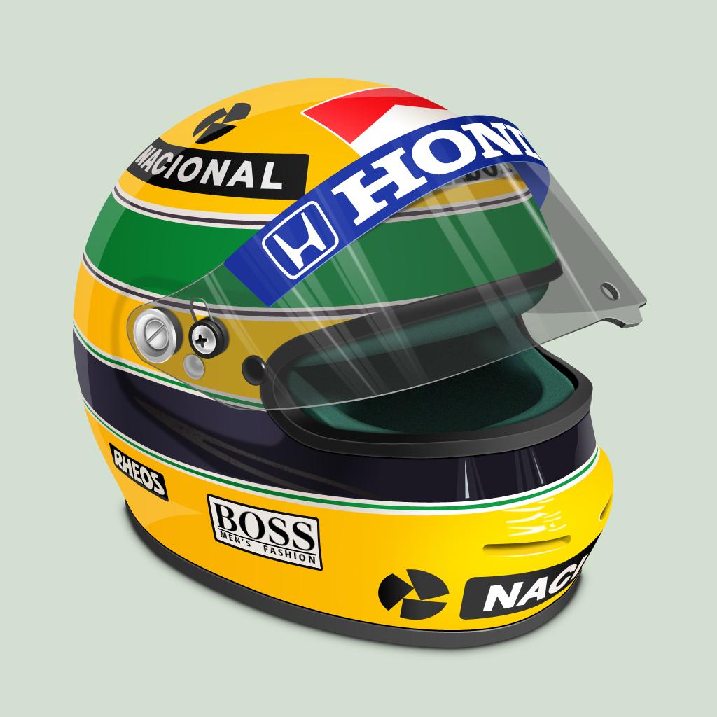 Senna Helmet by treetog Senna Helmet by treetog - Ayrton Senna S PNG